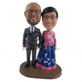 Ethnic Wedding Couple Custom Bobblehead