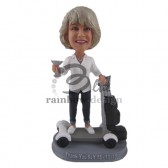 Lady on a Scooter Custom Bobblehead