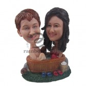 Sexy Couple in Tub Custom Bobbleheads