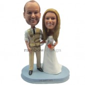 Casual Wedding Couple Custom Bobbleheads