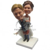 Groom Carrying Bride Custom Bobbleheads