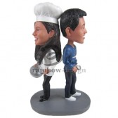 Cookinh Loving Couple Custom Bobbleheads