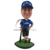 Baseball Fan Standing Custom Bobblehead