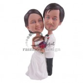 Huging Wedding Couple Custom Bobblehead