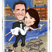 Caricature Wedding Inviations - Cute custom portrait