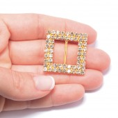 GOLD DOUBLE SQUARE BUCKLE SLIDER 302 G