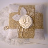 Vintage Trim Ring Bearer Pillow