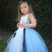 Alice in wonderland flower girl tutu dress