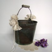 Rustic Flower Girl Pail