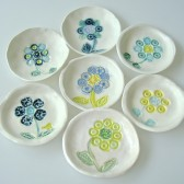 ring dish favor with flower