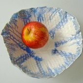 blue white serving bowl
