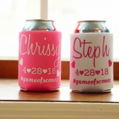 Personalized koozies, bachelorette party favors