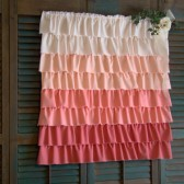 Ombre Ruffle Wedding Backdrop