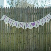 Burlap thank you banner, burlap sign, wedding sign, wedding banner