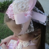 flower girl vintage headband