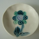 peacock flower ring dish