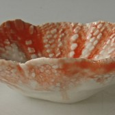 tangerine lace bowl