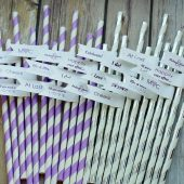 Personalized Bachelorette Straws