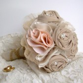 Rustic Chic Peach & Taupe Bouquet