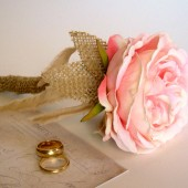 Rustic Pink Rose Guest Book Pen