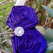 flower girl plum headband
