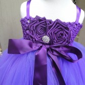 purple,plum flower girl tutu dress