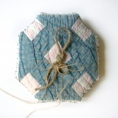 Vintage Quilt Top Ring Pillow