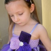 purple,lilac and plum flower girl tutu dress