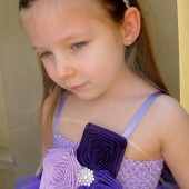 flower girl tutu dress in purple,lilac and plum