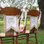 Mr & Mrs Chair Banners