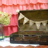 Rustic Suitcase Card Holder
