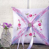 Vintage Handkerchief Ring Bearer Pillow
