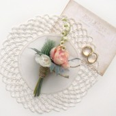 Romantic Wedding Boutonniere