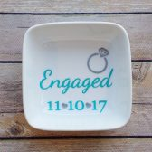 Engaged ring dish / ring dish / engagement gift / engagement ring holder / ring holder
