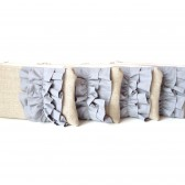 Set of Ruffle Clutches Your Choice of Colors