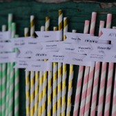 Custom Wedding Straws with Personalized Straw Flags