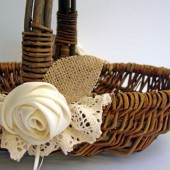 Traditional Flower Girl Basket