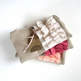 Set of Ruffle Clutches
