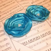 Tiffany Blue Hair Flowers