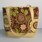 Modern Floral Cotton Tote Bag