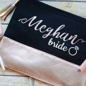 Makeup bag, cosmetic bag, personalized bag