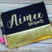 Cosmetic Bag, Makeup Bag, Personalized Bridesmaid Gift