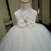 ivory lace flower girl tutu dress