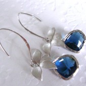 long blue sapphire earrings