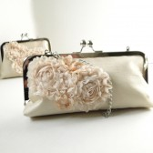 Ivory Silk Bridal Clutch