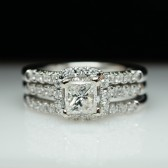 Diamond Engagement Ring & Wedding Band Set