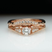 Diamond Engagement Ring & Wedding Band Bridal Set