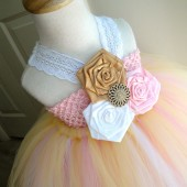 rustic pink flower girl dress