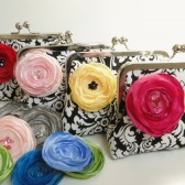 Damask bridesmaids clutch