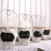 Chalkboard Wedding Favor Container